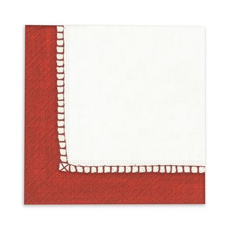 Red Linen Cocktail Napkin