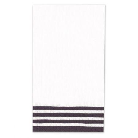 Black Stripe Guest Napkin