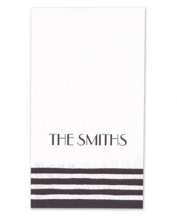 Black Stripe Guest Napkin
