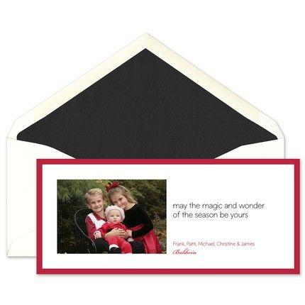 Crimson Magic Photo Card