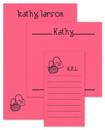 Pink Motif Note Pad Set