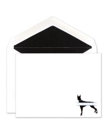 Doberman Flat Card