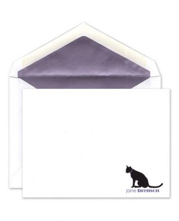 Purple Cat Flat Card
