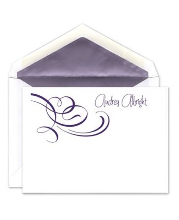 Whimsical Swirls Flat Card