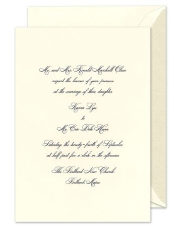 Royal Courtyard Invitation