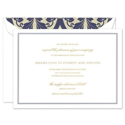 Versailles Invitation