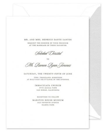 Fifth Avenue Fete Invitation