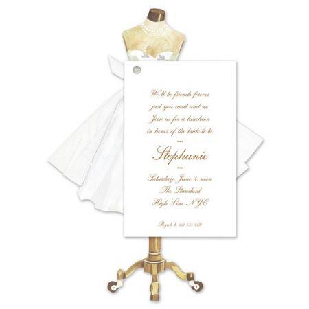 Mannequin Dress Invitation