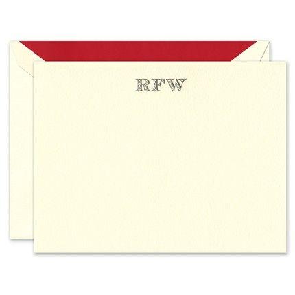 Ecru Lettra Flat Card