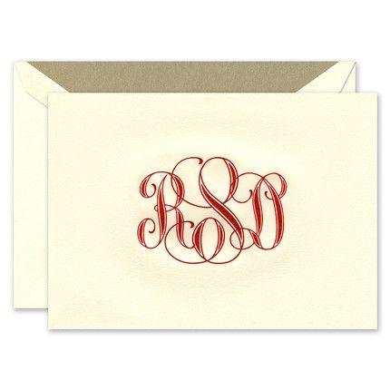 Ecru Lettra Note Card