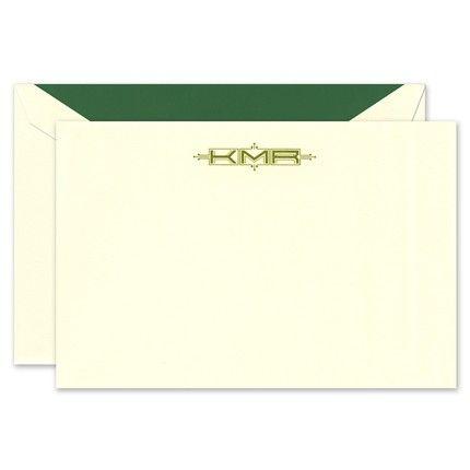 Ecru Flat Card