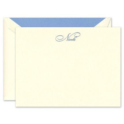 Elegant Ecru Flat Card