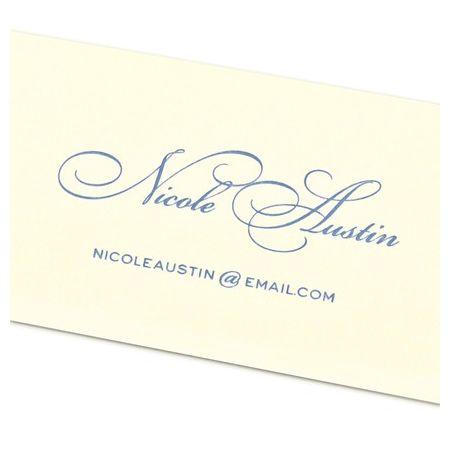 Elegant Ecru Calling Card