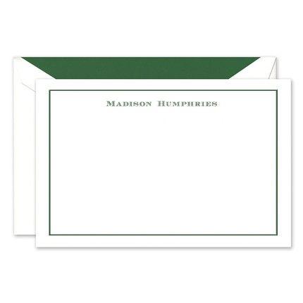 Green Frame Flat Card
