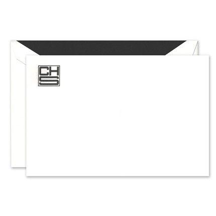 White Flat Card