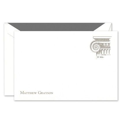 Column White Flat Card