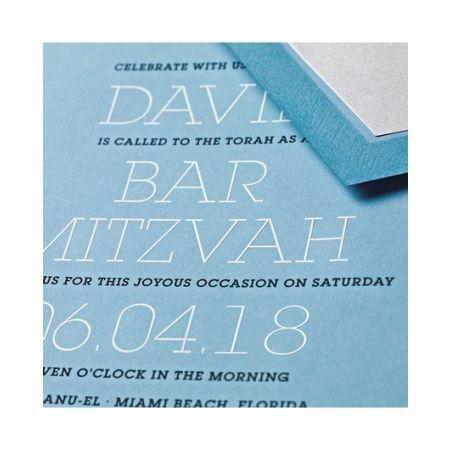 Large Dalton Blue Invitation
