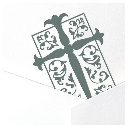 White Motif Folded Card