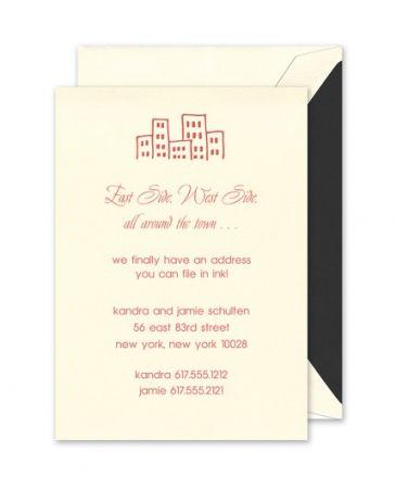 Cityscape Ecru Flat Card