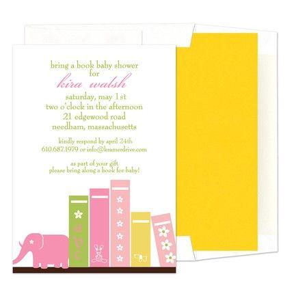 Pink Books Invitation