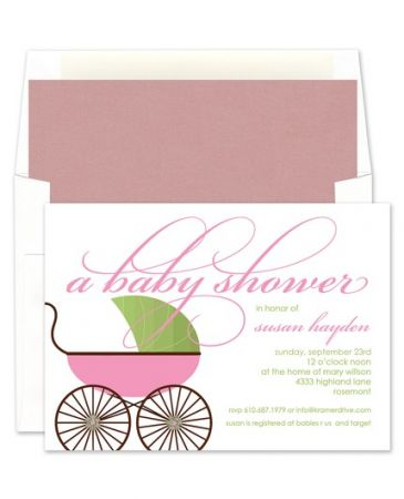 Pink Buggy Invitation