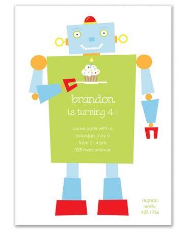 Happy Robot Invitation