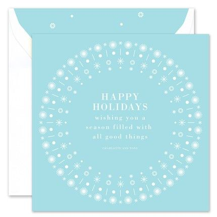 Winter Border Greeting Card