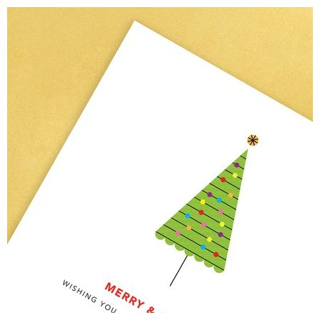 Retro Tree Greeting Card