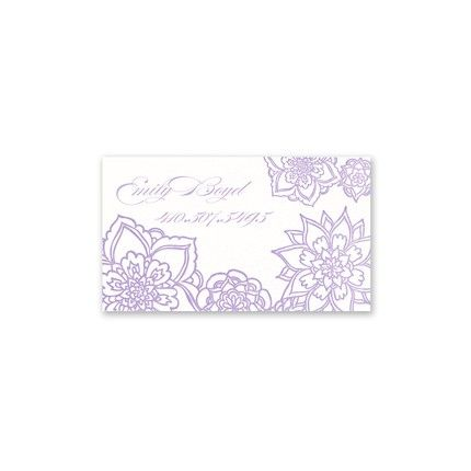 Purple Floral Calling Card