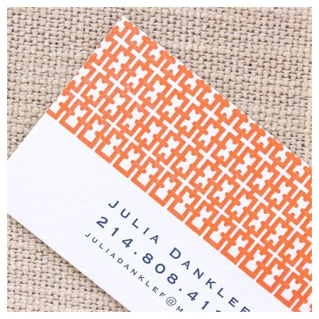 Patterned Calling Card