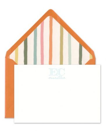 Orange & White Flat Card