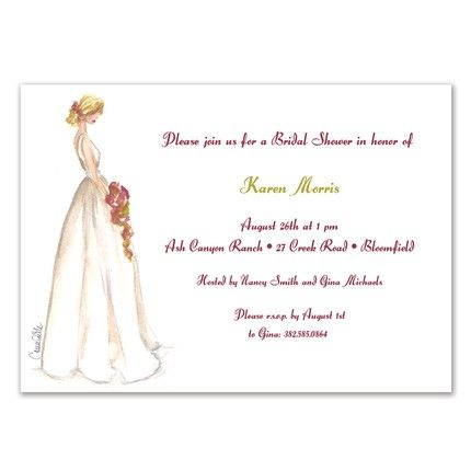 Beauty Bride Invitation