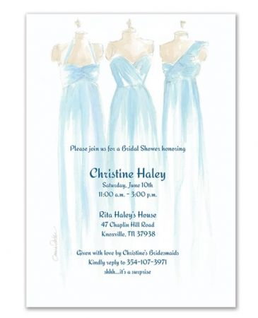 Blue Bridesmaid Invitation