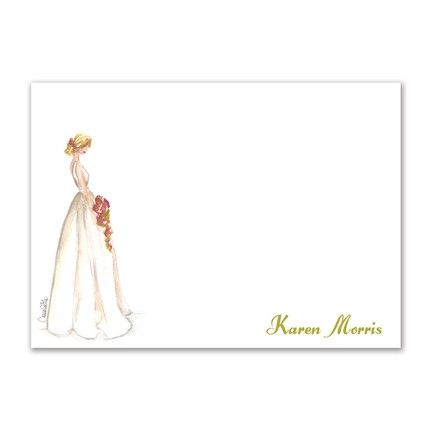 Beauty Bride Flat Card