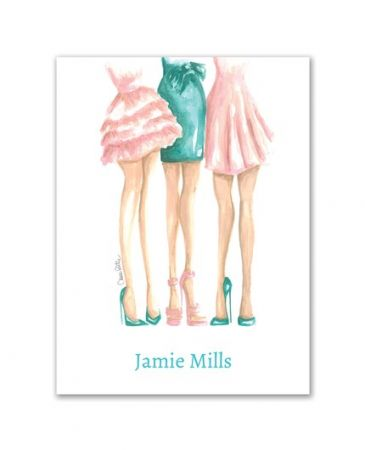 Frilly Girls Note Card