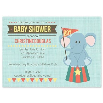 Elephant Shower Invitation