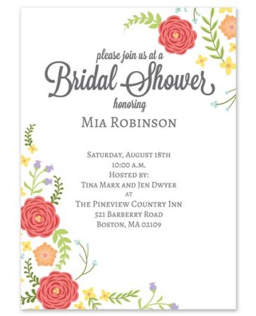 Blooms Shower Invitation