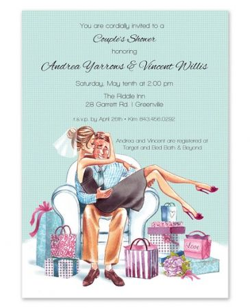 Kissing Couple Invitation