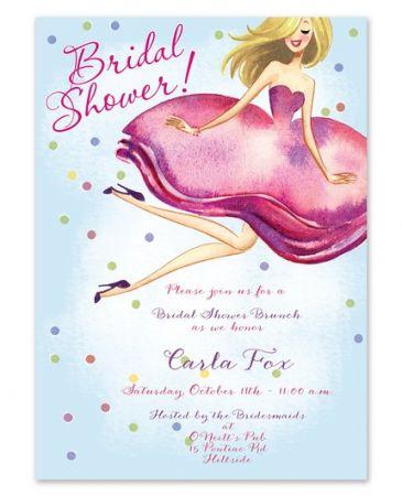 Bride & Confetti Invitation