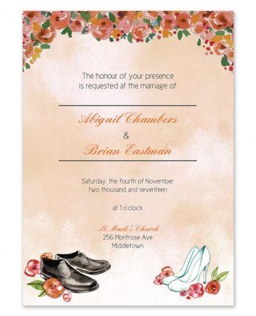Wedding Shoes Invitation