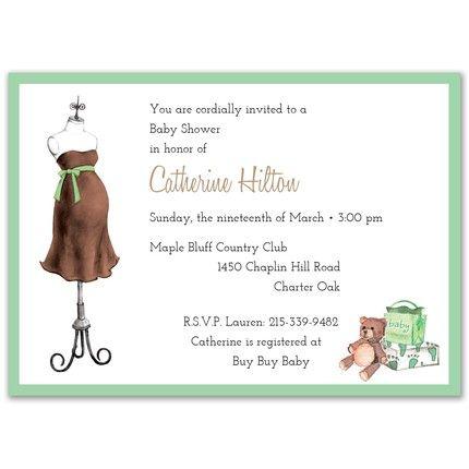 Green Dress Invitation