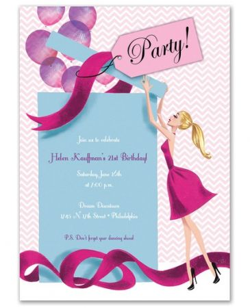Gift Girl Invitation