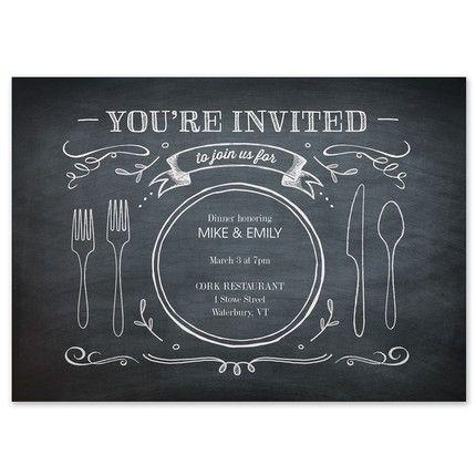 Chalkboard Dinner Invitation