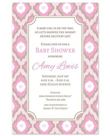 Pink Ikat Invitation