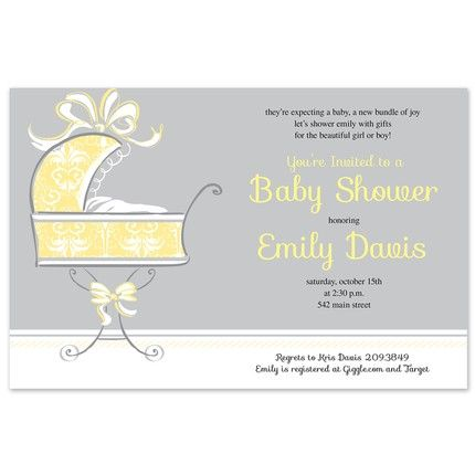Sweet Buggy Invitation