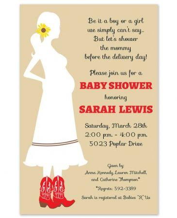 Western Mom Invitation