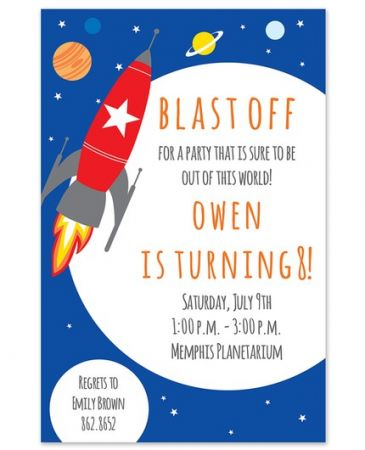 Space Rocket Invitation
