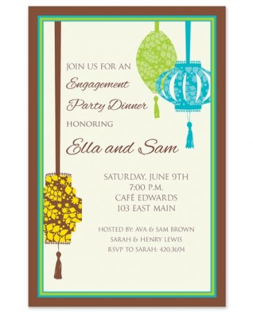 Posh Lantern Invitation