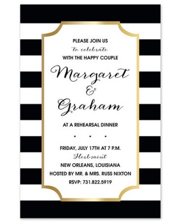 Cabana Stripe Invitation