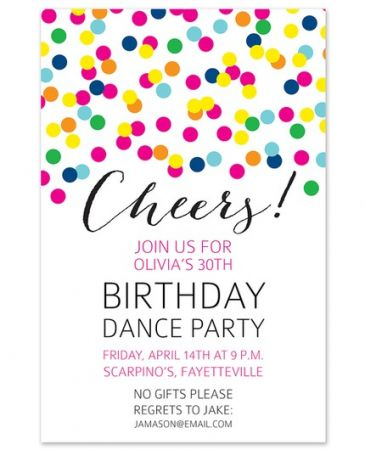 Confetti Drop Invitation